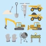 Attrezzatura per l'edilizia e macchine Immagini Stock