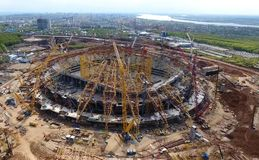 Attrezzatura per la costruzione dello stadio Immagini Stock Libere da Diritti