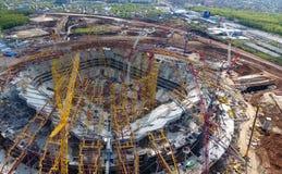 Attrezzatura per la costruzione dello stadio Fotografia Stock