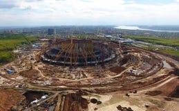 Attrezzatura per la costruzione dello stadio Immagine Stock