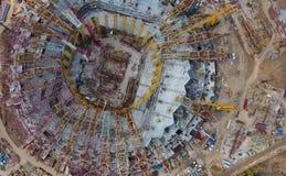 Attrezzatura per la costruzione dello stadio Fotografia Stock Libera da Diritti