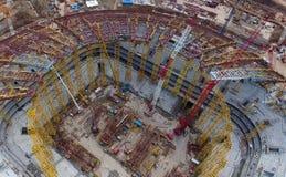 Attrezzatura per la costruzione dello stadio Fotografie Stock Libere da Diritti