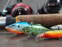 Attrezzatura per la pesca immagine stock
