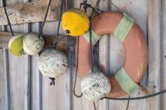 Attrezzatura per la pesca d'annata dall'aragosta Immagini Stock