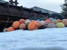 Attrezzatura per la pesca dell'Alaska fotografia stock
