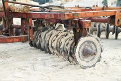 Attrezzatura per le spiagge di pulizia Immagini Stock Libere da Diritti