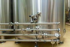 Attrezzatura per produzione della birra Fotografia Stock Libera da Diritti