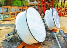 Immagine dettagliata delle comunicazioni della parte con un'antenna di telecomunicazione Fotografia Stock Libera da Diritti