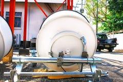 Immagine dettagliata delle comunicazioni della parte con un'antenna di telecomunicazione Immagine Stock Libera da Diritti