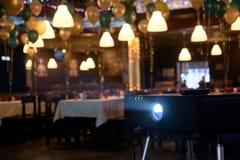 Attrezzatura professionale Atmosfera di celebrazione Indicatore luminoso luminoso Immagini Stock