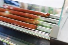 Attrezzatura professionale per la preparazione del hot dog Immagini Stock Libere da Diritti