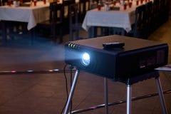 Attrezzatura professionale Tecnica nera Indicatore luminoso luminoso Fotografia Stock Libera da Diritti