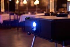 Attrezzatura professionale Tecnica nera Indicatore luminoso luminoso Fotografia Stock