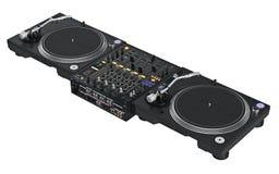 Attrezzatura stabilita del DJ del professionista Immagini Stock