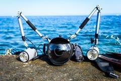 Attrezzatura subacquea professionale di fotografia per i wi della macchina fotografica di DSLR Fotografia Stock