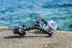 Attrezzatura subacquea professionale di fotografia per i wi della macchina fotografica di DSLR Fotografia Stock Libera da Diritti