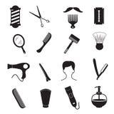 Attrezzature dell'acconciatura degli uomini e di Barber Tools Fotografia Stock