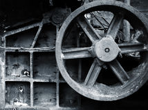 Attrezzature in disuso della miniera Fotografia Stock
