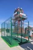 Attrezzature e tecnologie di protezione delle aree di perimetri Fotografie Stock Libere da Diritti