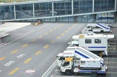 Attrezzature e veicolo, aeroporto di Hongqiao, Schang-Hai Immagini Stock Libere da Diritti