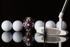 Attrezzature ed uovo di golf Fotografie Stock Libere da Diritti