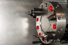 Attrezzature a macchina/strumenti sulla macchina di CNC Fotografie Stock Libere da Diritti