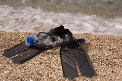 Attrezzature per l'immersione Fotografia Stock Libera da Diritti
