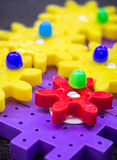Attrezzi di plastica variopinti Fotografia Stock