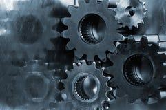 Attrezzi di potenza in azzurro Fotografie Stock