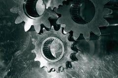 Ingranaggi e denti in bronzo immagini stock libere da diritti