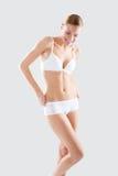 Attrezzi ginnici della biancheria intima della ragazza di forma fisica Fotografie Stock