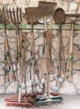 Attrezzi per bricolage del giardino Immagini Stock
