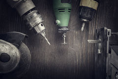 Attrezzi per bricolage elettrici Fotografia Stock Libera da Diritti
