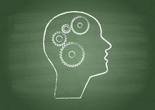 Attrezzi in testa umana Immagini Stock