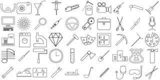 Attributen av arbete vektor illustrationer