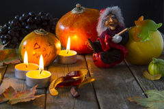 Attributen van Halloween Stock Foto
