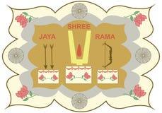 Attributen van Lord Rama stock illustratie