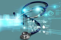 Attributes. Background black blue cardiac care cure royalty free stock photography