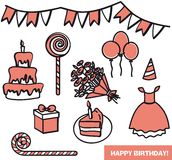 Attributes birthday girl Royalty Free Stock Photo