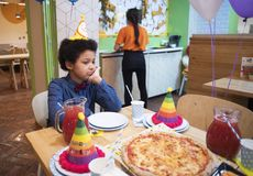 Attributes of children`s holiday. Children`s birthday party. Royalty Free Stock Photography