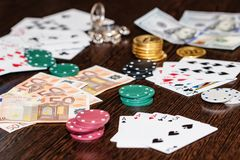Concept : gambling in the modern world stock image