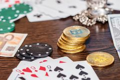 Concept : gambling in the modern world stock photo