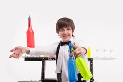 Attributes of good barman Stock Image