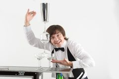 Attributes of good barman Royalty Free Stock Image