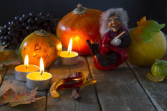 Attributes of Halloween Stock Photo