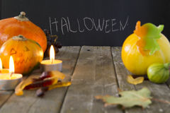 Attributes of Halloween Royalty Free Stock Photo