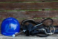 Attributes hobby horse rider Stock Photos