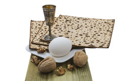 Attributes of Jewish Passover Seder celebration Royalty Free Stock Photo