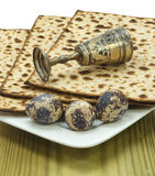 Attributes of Jewish Passover Seder celebration Stock Image