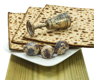 Attributes of Jewish Passover Seder celebration Royalty Free Stock Photography